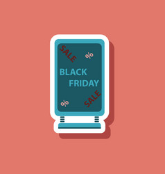 Fashion patch sale sticker signboard black friday vector