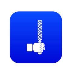 File tool in man head icon digital blue vector