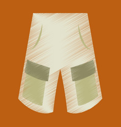 Flat shading style icon clothes shorts vector