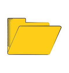 Folder file document archive icon vector