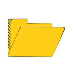 folder file document archive icon vector image