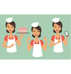 Girl confectioner vector