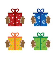 Giving presents gifts for different occasions vector