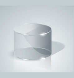 glass cylinder transparentcylinder isolated vector image