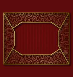 Golden frame in vintage style nameplate vector