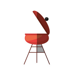 grill cooking picnic shadow vector image