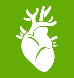 heart icon green vector image