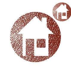 House simple single color icon isolated on white vector image