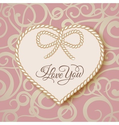 I love you - card vector