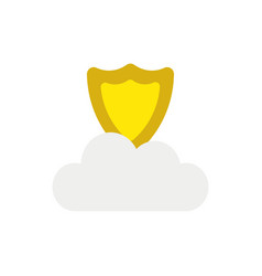 icon concept of guard shield on cloud vector image