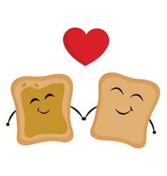 image bread love or color vector image