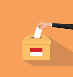 indonesia vote election concept with vector image