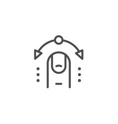 interactive control line outline icon vector image