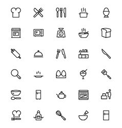 Kitchen Line Icons 1 vector image