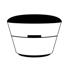 laundry basket isolated vector image