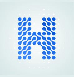 letter h logo halftone icon vector image