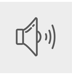 Loudspeaker thin line icon vector