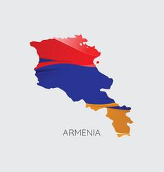 map armenia vector image
