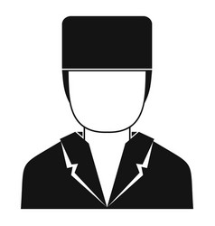 Medical doctor icon simple style vector