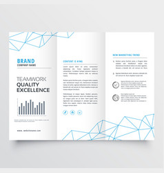 Minimal tri-fold brochure design template for vector