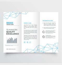 Minimal tri-fold brochure design template vector