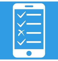 Mobile Tasks Icon vector