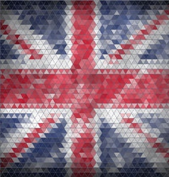 Mosaic British flag background vector