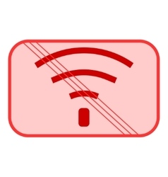 No Wifi sign 504 vector image