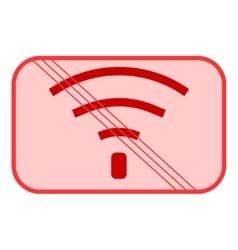 No Wifi sign 504 vector image