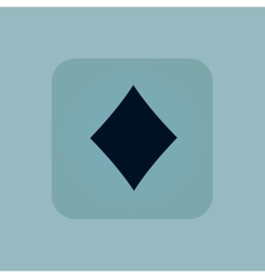 Pale blue diamonds icon vector