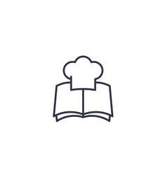 Recipe book icon line vector
