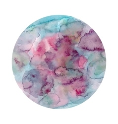 Round watercolor texture in vector