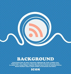 RSS feed sign icon Blue and white abstract vector image