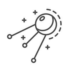 Satellite icon outline style vector