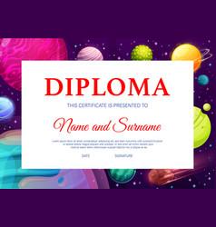 School kid diploma kindergarten certificate vector