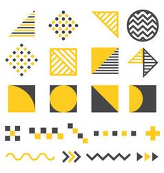 set modern abstract design elements vector image