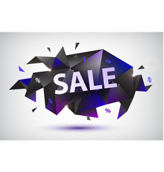 set sale faceted geometric banners vector image