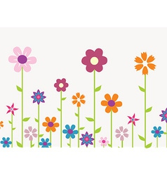 Simple flower design vector
