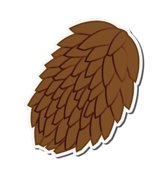 Single pine cone icon vector