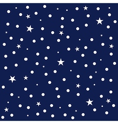 Star Polka Dot Dark Blue Background vector