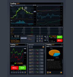 Stock trading concept ui with analyze data vector
