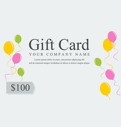 style gift voucher card collection vector image