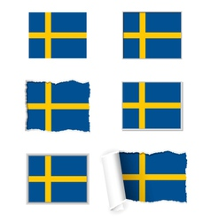 Sweden flag set vector