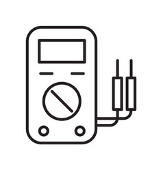 Thin line voltage gage icon vector