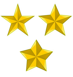 Three types 5-pointed stars vector