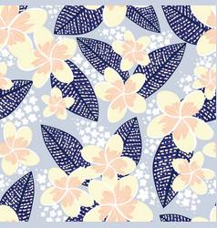 tropical frangipani seamless pattern vector image