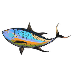 tuna for fishing vector image