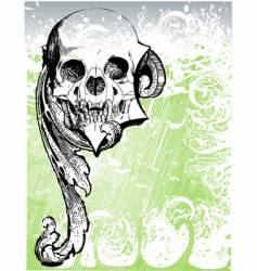 Vampire heraldic skull illustration vector