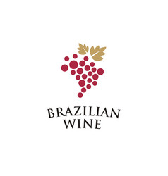 Vinho brasil creative logo idea vector