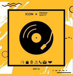 Vinyl record turntable icon vector